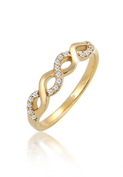 DIAMORE Ring Infinity Verlobung Diamant (0.09 ct.) 585 Gelbgold