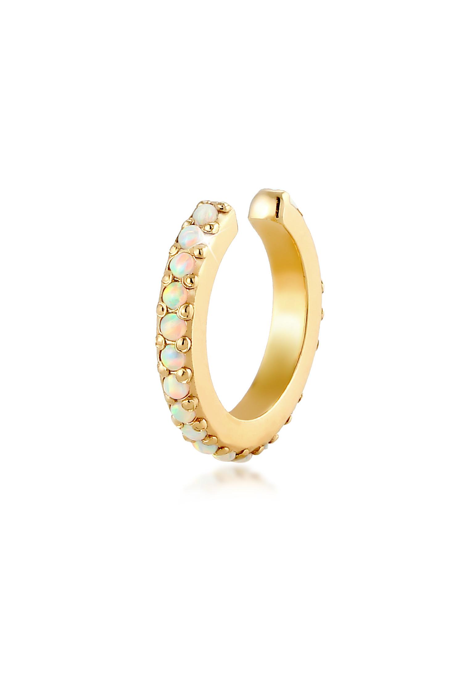 Earcuff | Opal ( Weiß ) | 925er Sterling Silber
