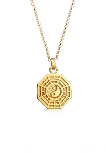 Halskette Bagua   925 Sterling Silber vergoldet
