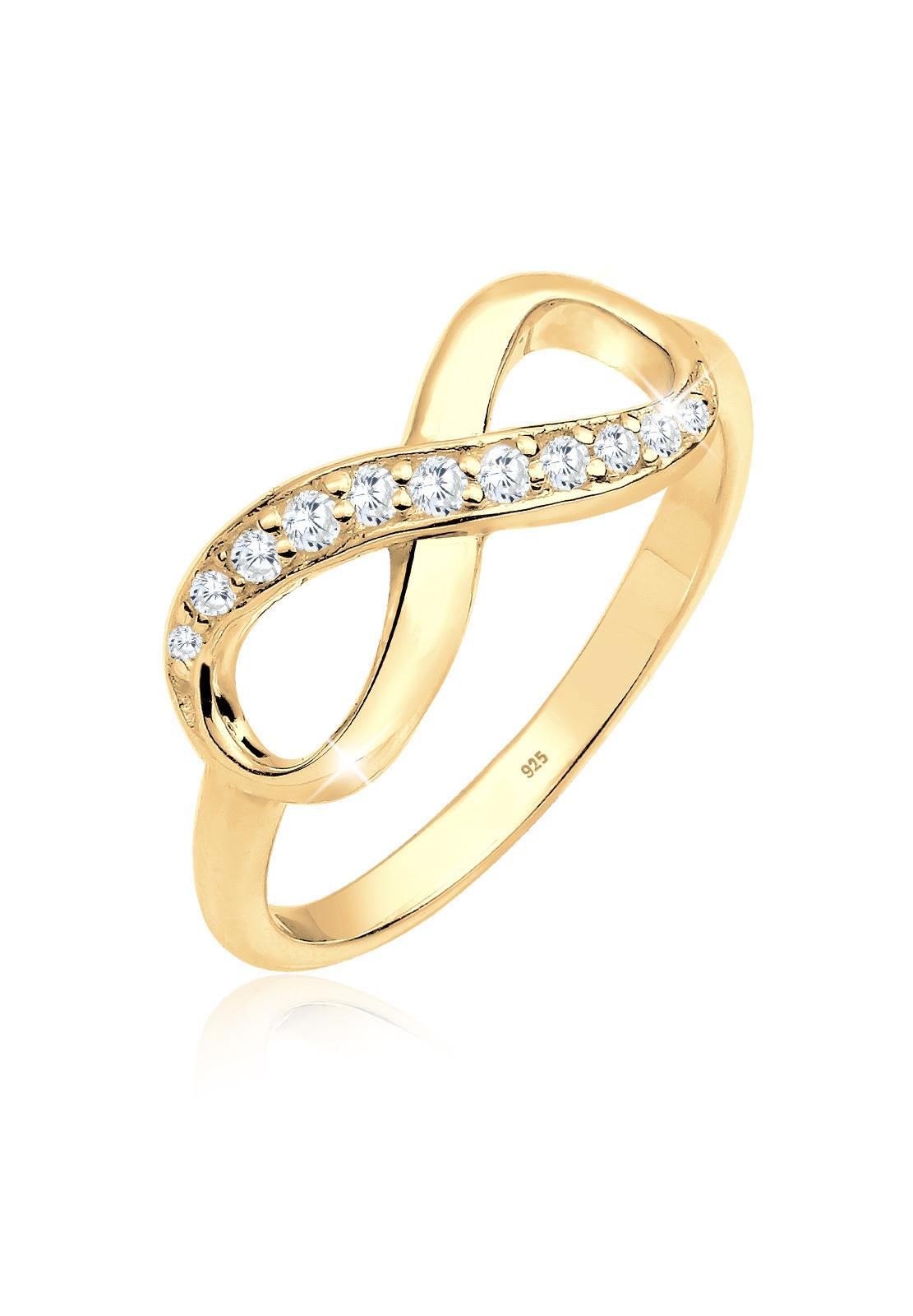 Ring Infinity   Zirkonia ( Weiß )   925er Sterling Silber