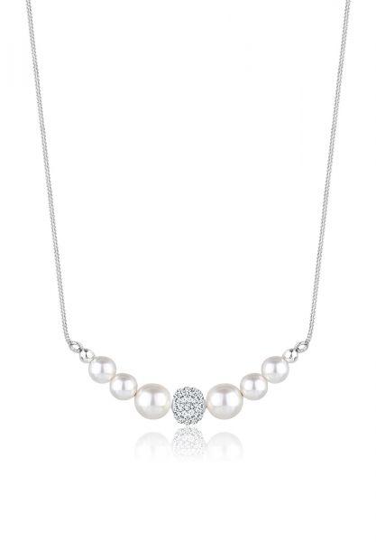 Elli Halskette Synthetische Perlen 925 Sterling Silber