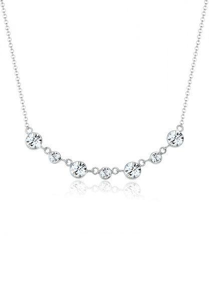 Halskette | Kristall ( Weiß ) | 925er Sterling Silber