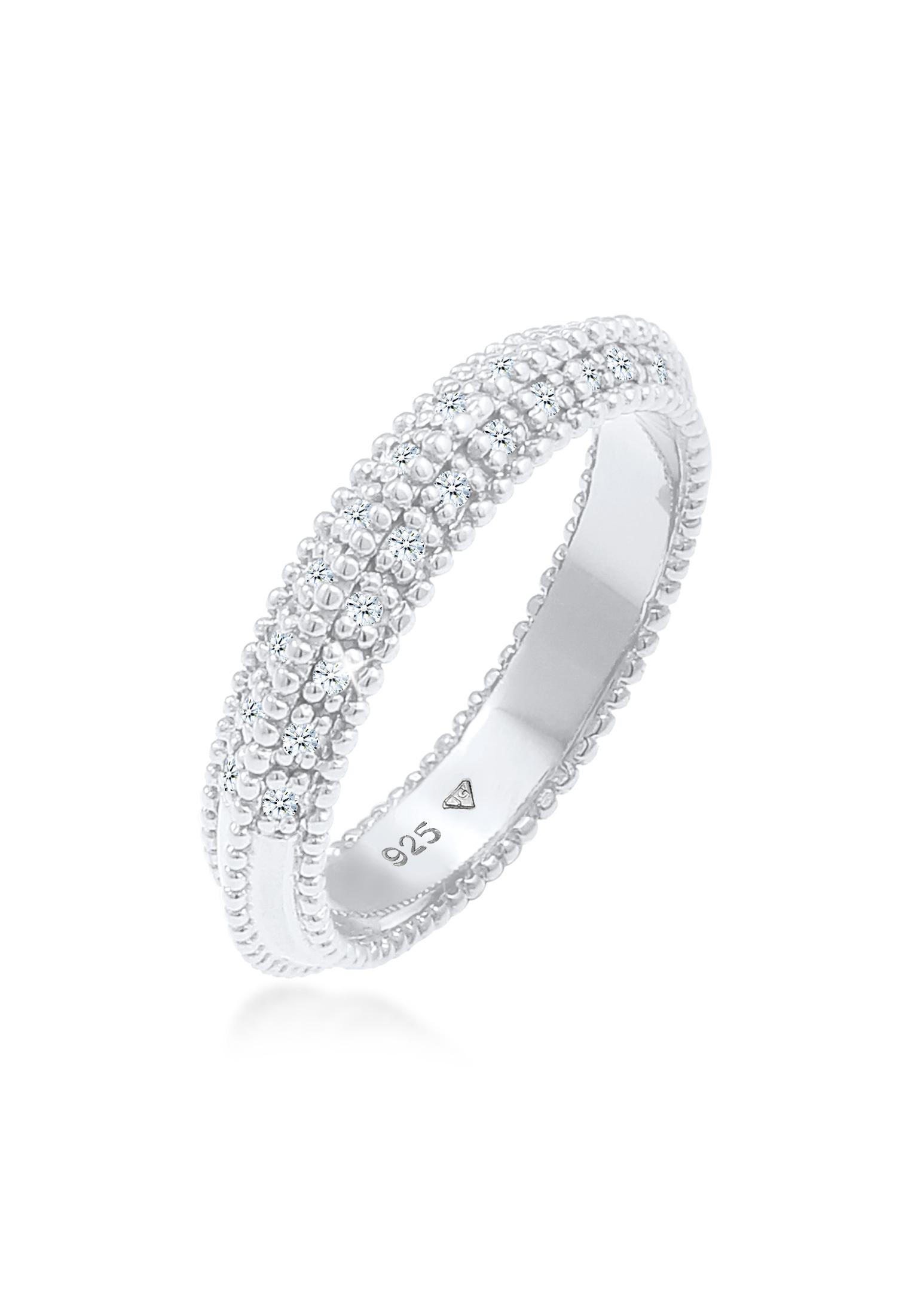 Verlobungsring | Diamant ( Weiß, 0,12 ct ) | 925er Sterling Silber