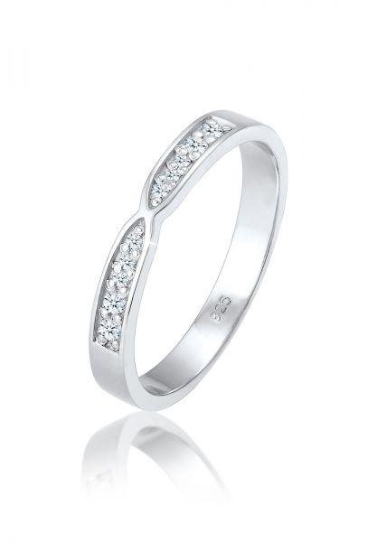 DIAMORE Ring Bandring Brillant Diamant (0.09 ct.) 925 Silber