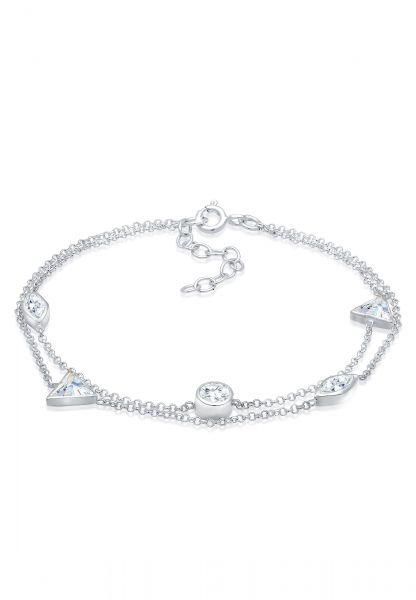 Armband | Zirkonia ( Weiß ) | 925er Sterling Silber