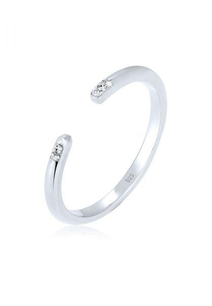 Elli Ring Minimal Geo Kristalle 925 Silber