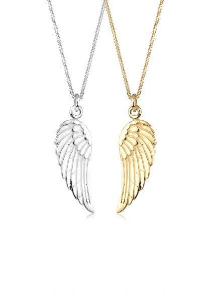 Halskettenset Flügel | 925 Sterling Silber vergoldet