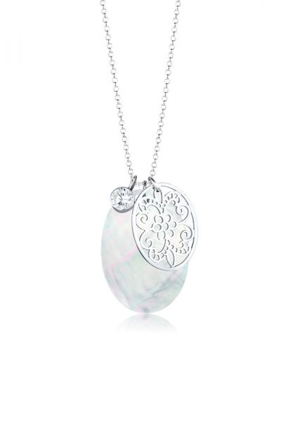 Lange Halskette | Zirkonia ( Weiß ) | 925er Sterling Silber