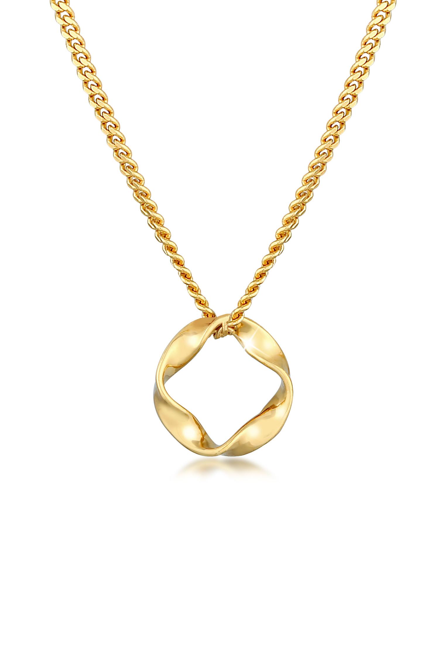 Halskette Kreis Gedreht | 585er Gelbgold
