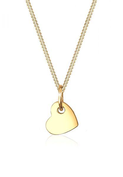 Elli PREMIUM Halskette Herz Romantisch Klassisch Edel 585 Gelbgold
