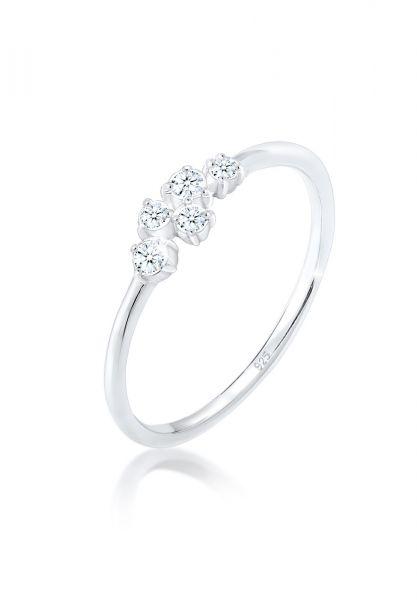 Verlobungsring | Diamant ( Weiß, 0,105 ct ) | 925er Sterling Silber