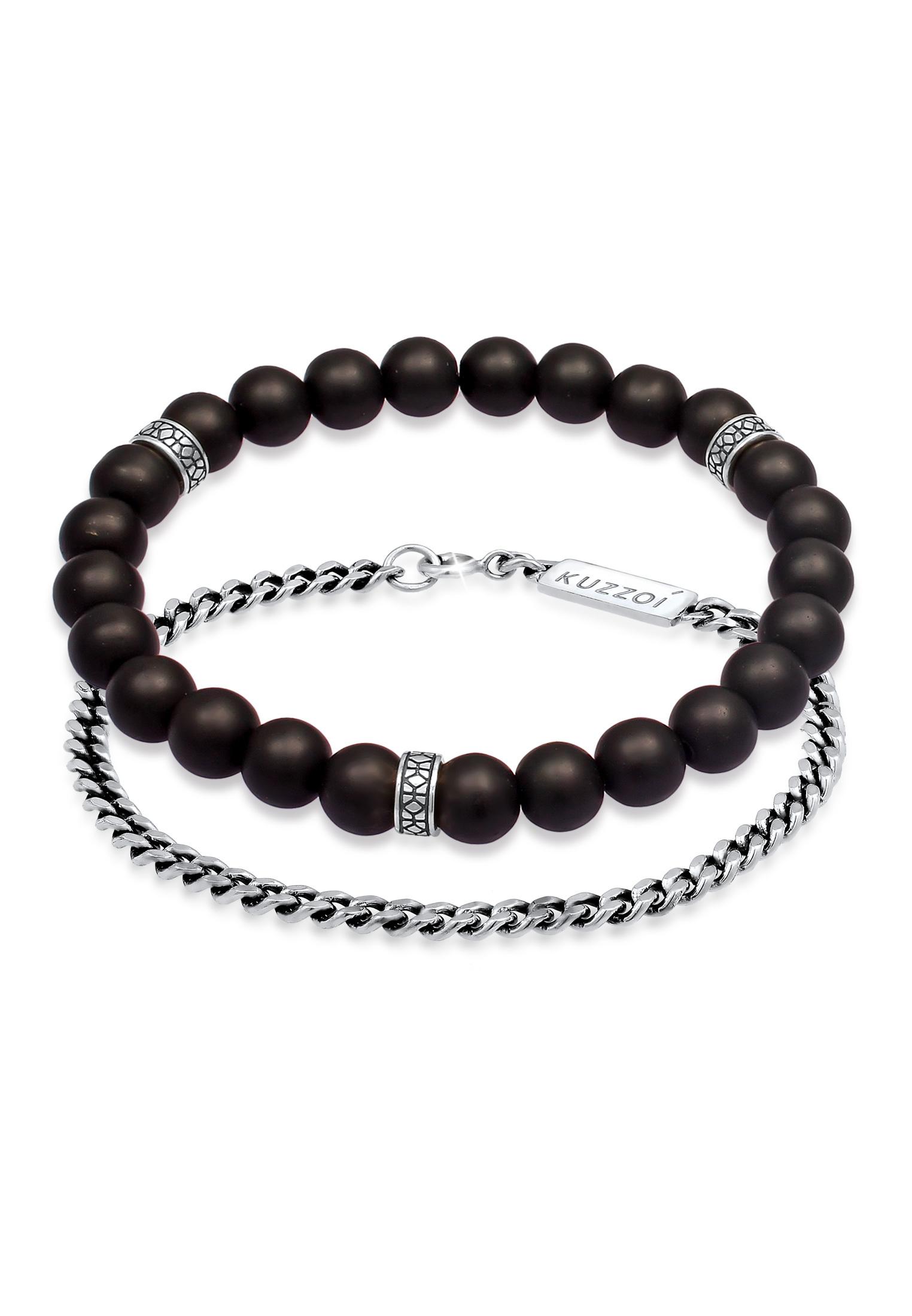 Armreif | Onyx ( Schwarz ) | 925er Sterling Silber