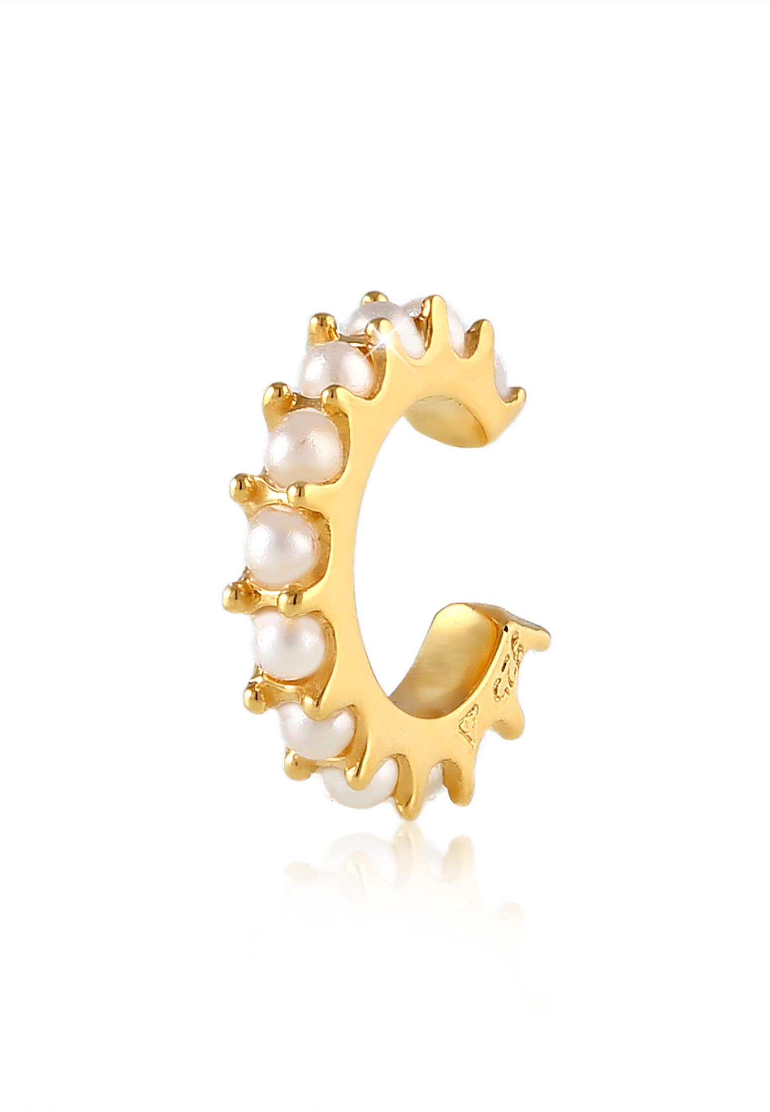 Earcuff | Perle | 925 Sterling Silber vergoldet