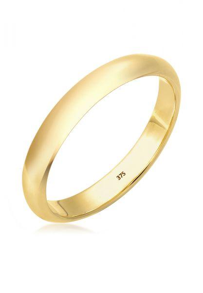 Elli PREMIUM Ring Ehering Bandring Klassisch 375 Gelbgold