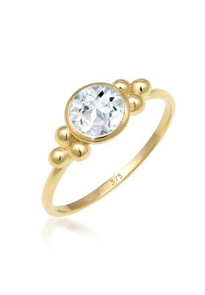 Ring | Topas ( Weiß ) | 375 Gelbgold