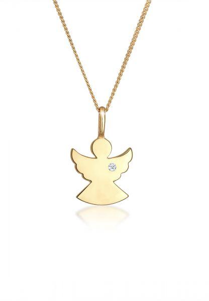 Halskette Engel   Diamant ( Weiß, 0,015 ct )   585 Gelbgold