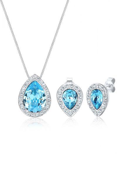 Elli PREMIUM Schmuckset Kristalle 925 Sterling Silber