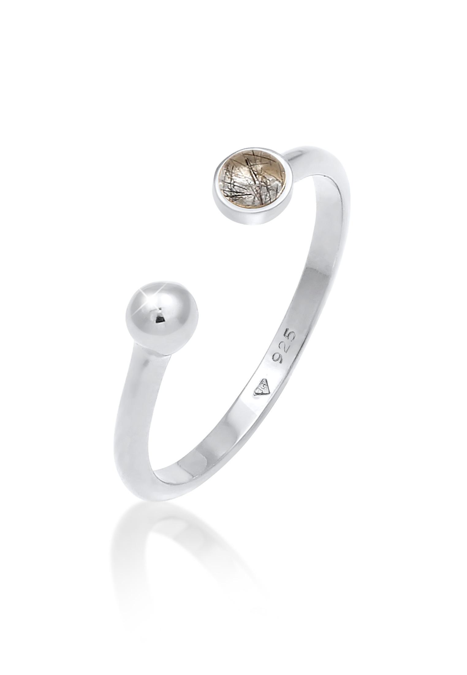 Ring | Quarz ( Transparent ) | 925er Sterling Silber