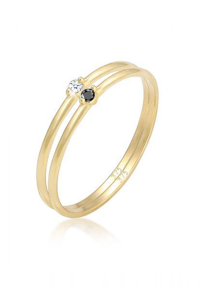 Verlobungsring   Diamant ( Weiß, 0,03 ct )   375 Gelbgold