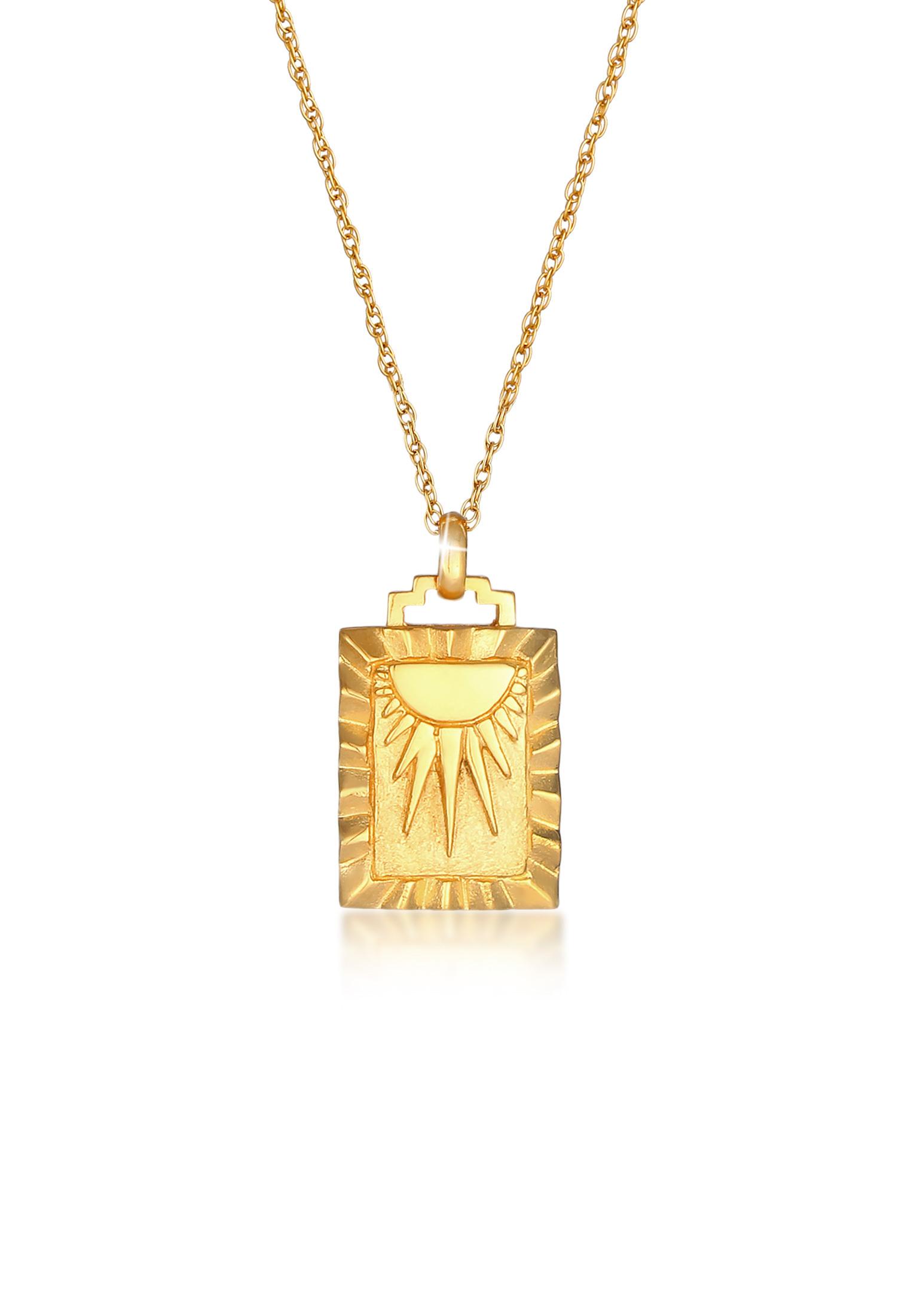 Halskette Sonne   925 Sterling Silber vergoldet