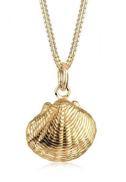 Elli Halskette Muschel Urlaub Meer Maritim 925 Sterling Silber