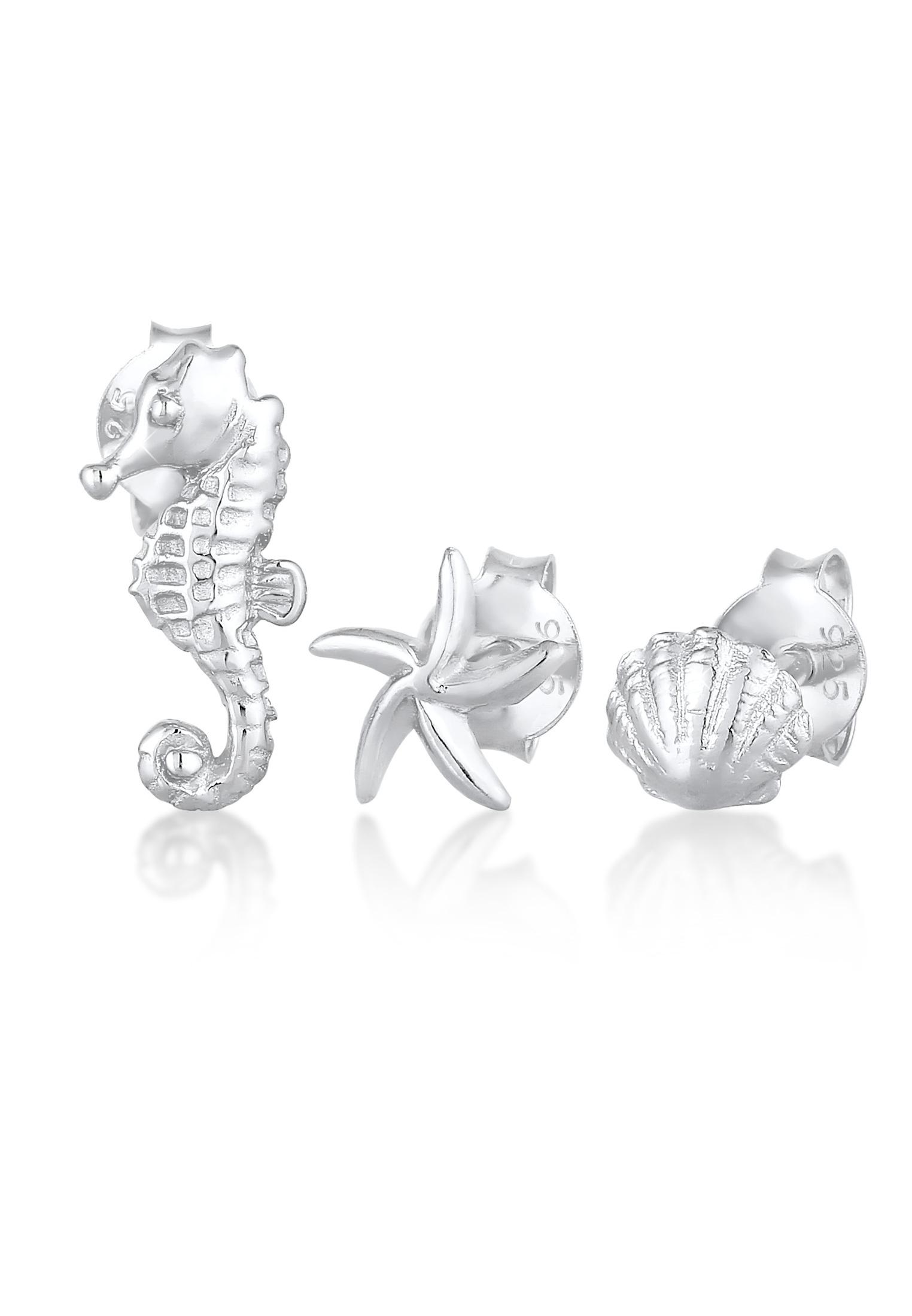 Ohrringset Muschel   925er Sterling Silber