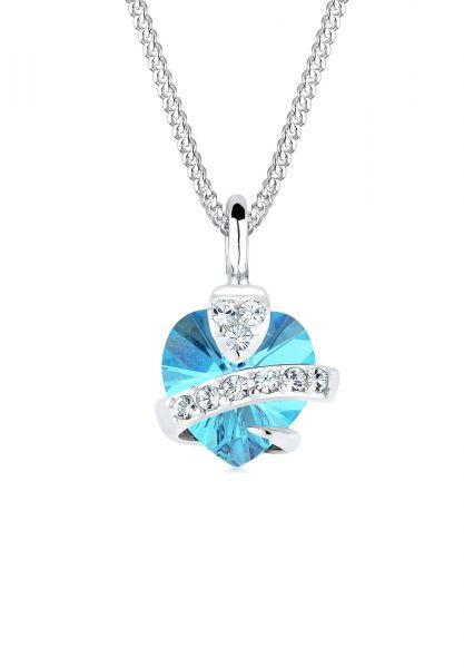 Elli Halskette Herz Kristalle 925 Silber