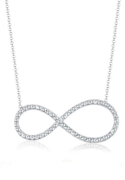 Elli Halskette Infinity Kristalle 925 Silber Noble