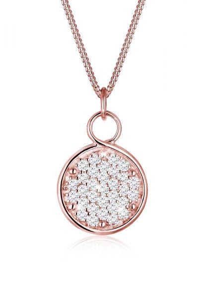 Elli Halskette Unendlich Zeichen Zirkonia 925 Sterling Silber