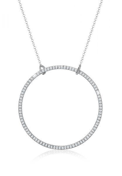 Elli Halskette Funkelnd Kreis Geo Zirkonia 925 Sterling Silber