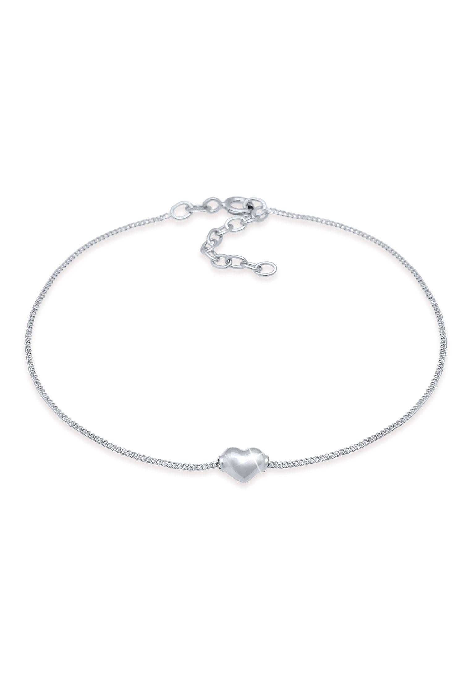 Fußkettchen Herz | 925er Sterling Silber