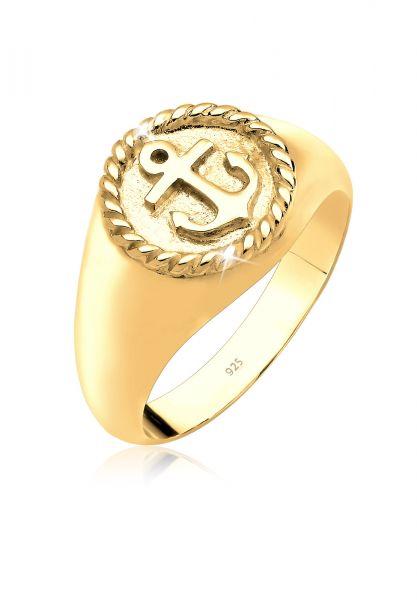 Elli Ring Siegelring 925 Sterling Silber