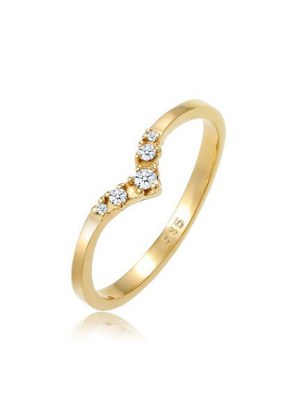 Verlobungsring | Diamant ( Weiß, 0,07 ct ) | 585 Gelbgold