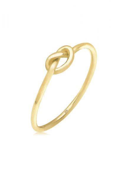 Elli PREMIUM Ring Knoten Trendsymbol 375 Gelbgold