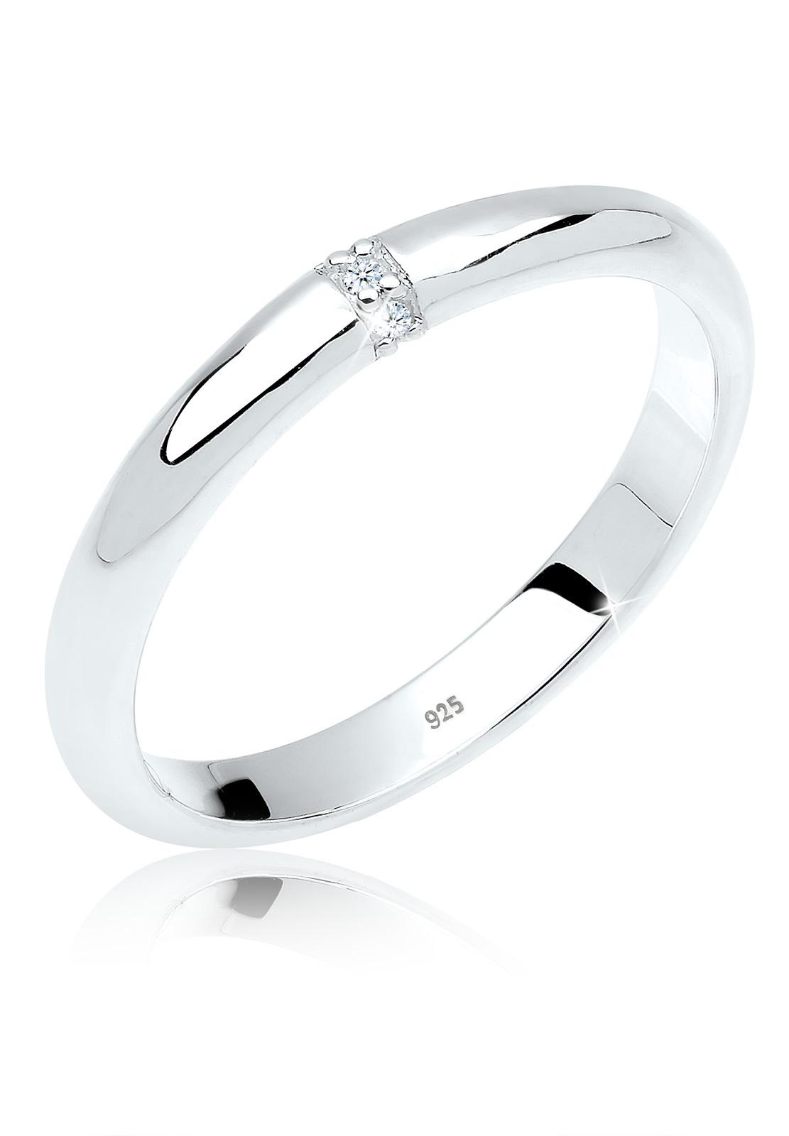Verlobungsring | Diamant ( Weiß, 0,045 ct ) | 925er Sterling Silber