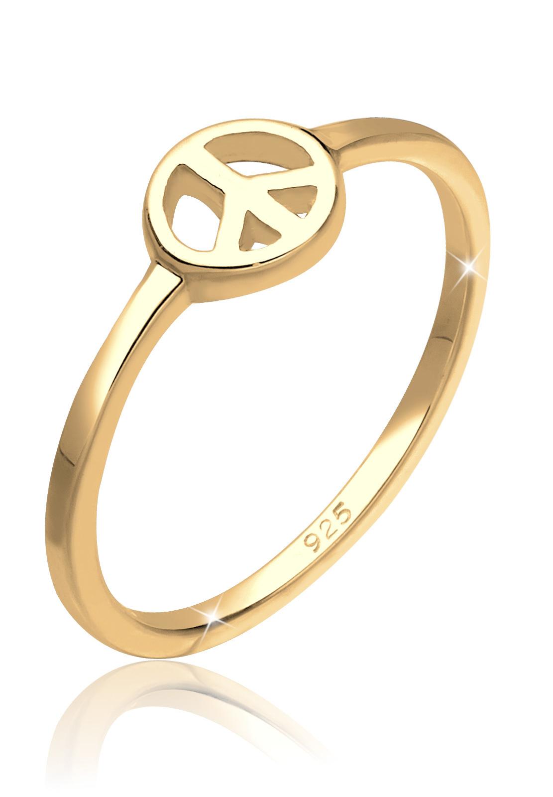 Ring Peace | 925 Sterling Silber vergoldet