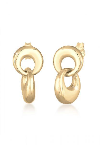Ohrhänger Geo   925 Sterling Silber vergoldet