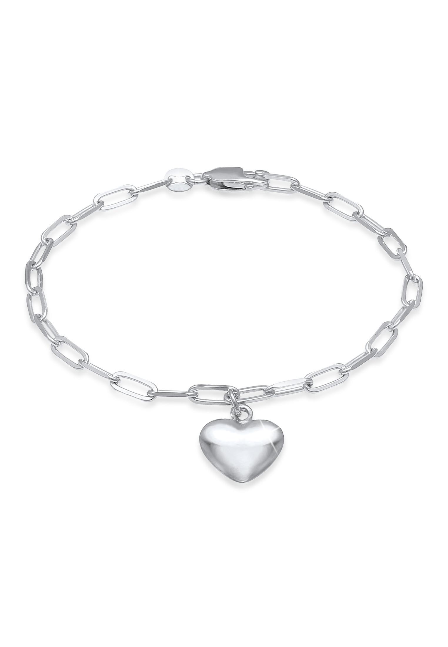 Glieder-Armband Herz | 925er Sterling Silber