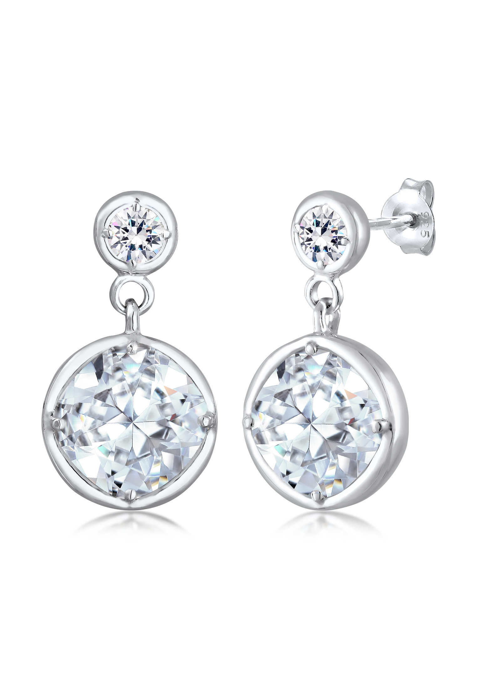 Ohrhänger Knoten | Kristall ( Weiß ) | 925er Sterling Silber