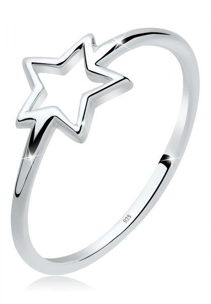 Elli Ring Trendsymbol Stern 925er Sterling Silber