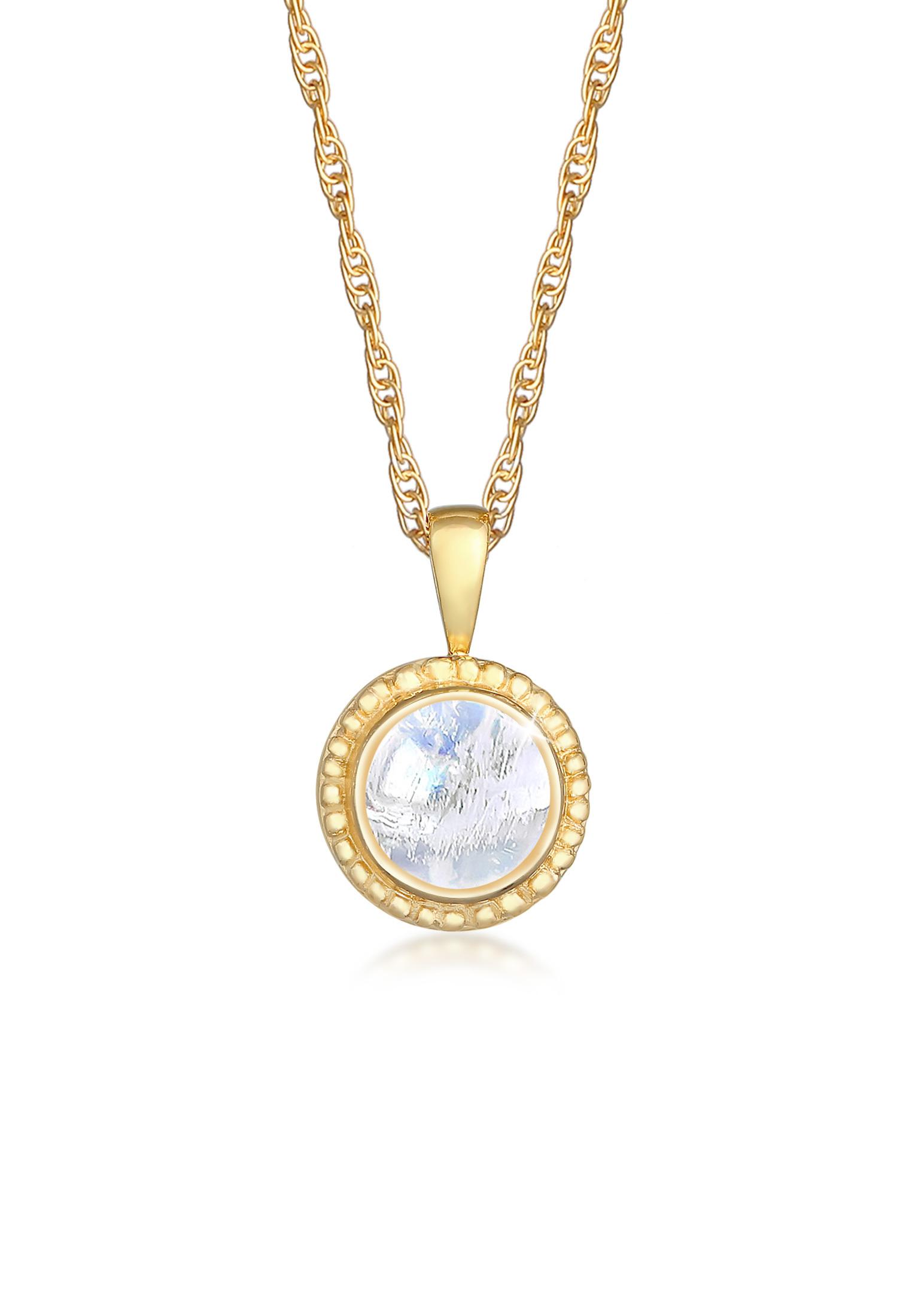 Halskette | Mondstein (weiß) | 925er Sterling Silber