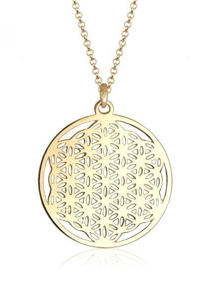 Elli Halskette Ornament Lebensblume Symbol 925 Sterling Silber
