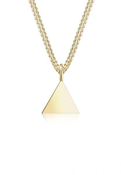 Halskette Dreieck | 375 Gelbgold