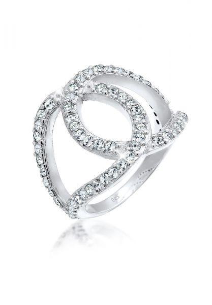 Elli Ring LoveKnots Kristalle 925 Sterling Silber