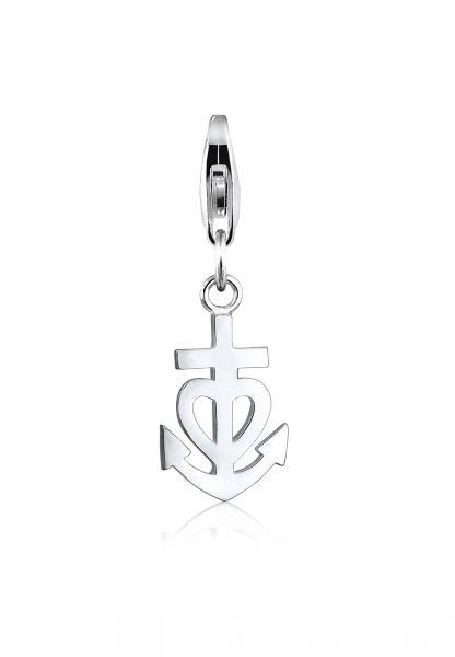 Nenalina Charm Anhänger Anker Herz Kreuz Kombinierbar 925 Silber