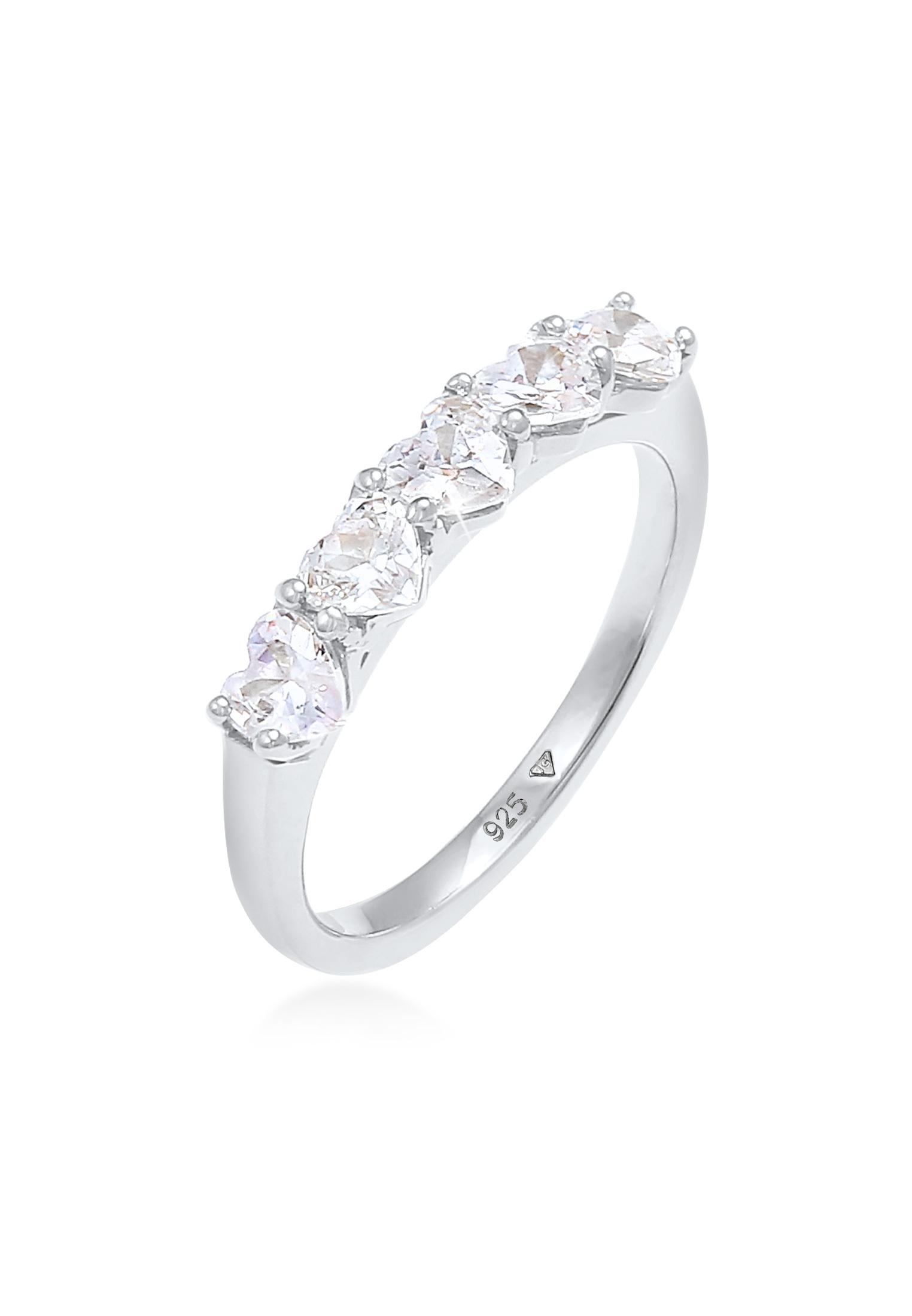 Ring Herz   Zirkonia ( Weiß )   925er Sterling Silber