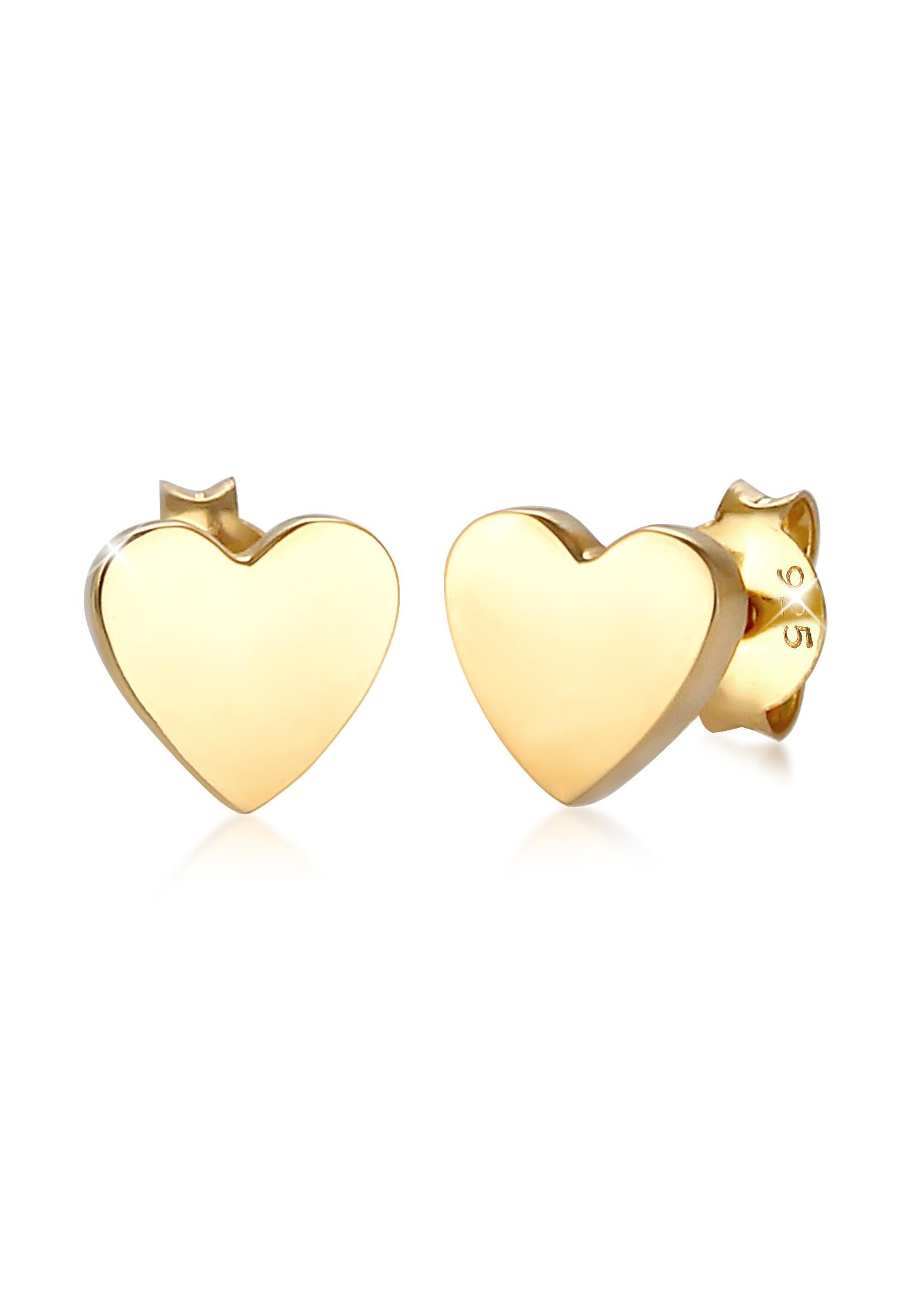 Ohrring Herz   925er Sterling Silber