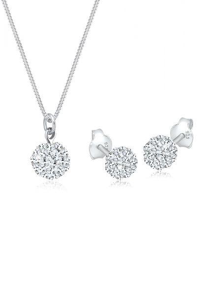 Elli Schmuckset Basic Elegant Kristalle 925 Silber