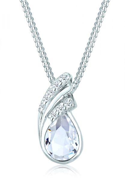 Elli Halskette Tropfen Drop Kristalle 925 Silber