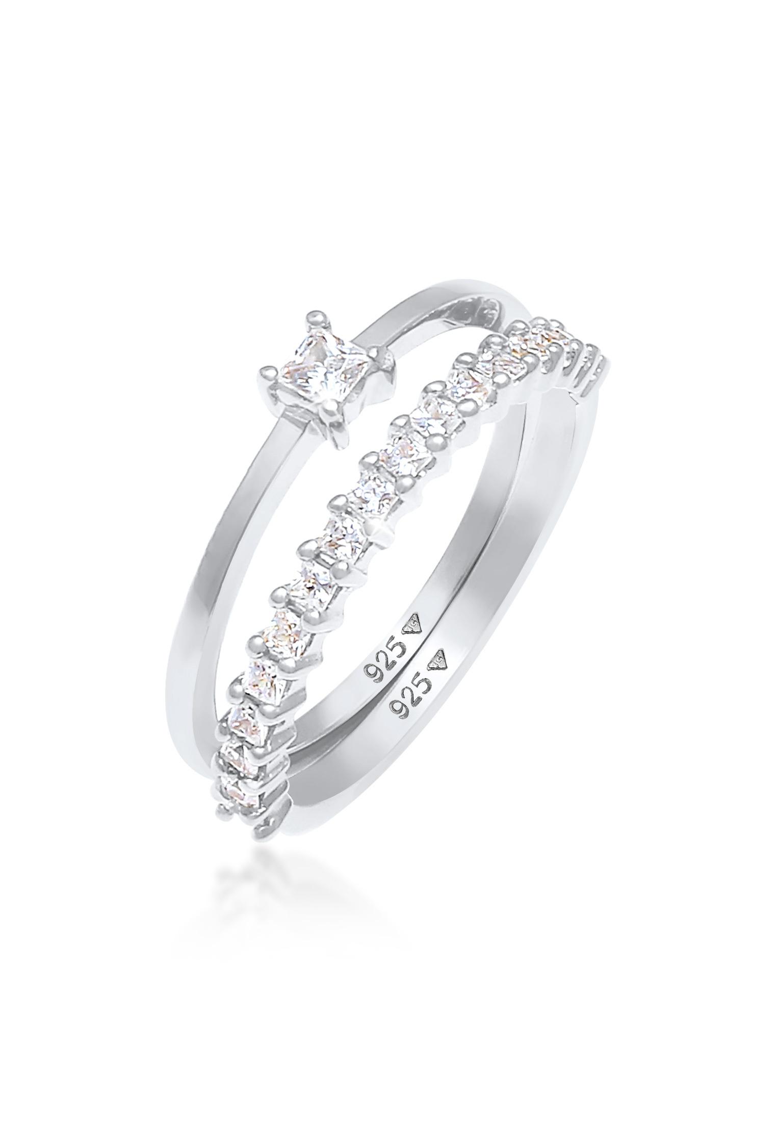 Ring   Zirkonia ( Weiß )   925er Sterling Silber